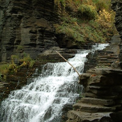 Cascadilla Gorge, one of the gorges and waterfalls on the Cornell campus