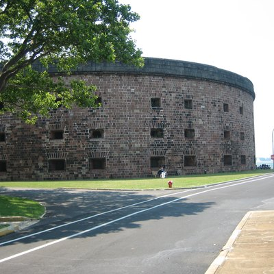 Castle Williams on Governor's Island in New York Harbor