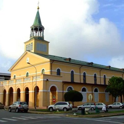 Cayenne Cathedral. Most Inhabitants Of French Guiana Are Catholic