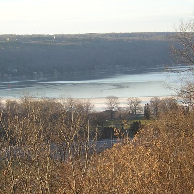Winter view of the head of Cayuga Lake
