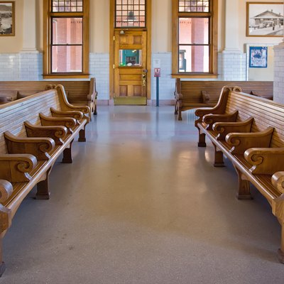The interior of Centralia Union Depot