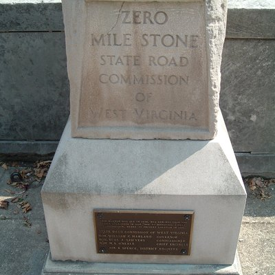 Zero Milestone adjacent to West Virginia State Capitol in Charleston, WV. Self Made Photo.