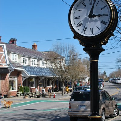 Street clock on Main Street in Chatham, MA April 2010