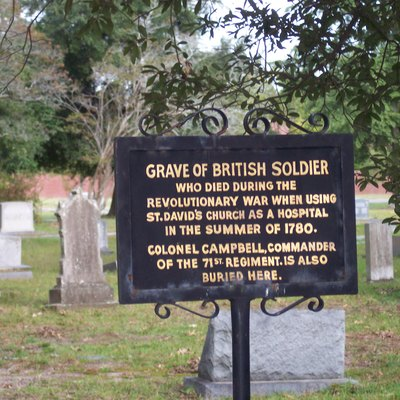 A British Solider's grave in Cheraw South Carolina from the American Revolution.