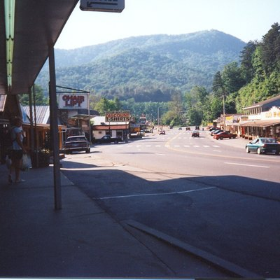Main Street of Cherokee, North Carolina.