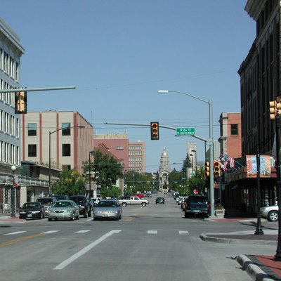 Downtown Cheyenne, Wyoming, united States.