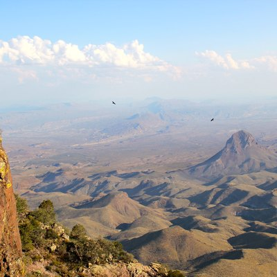 South Rim Trail in Chisos Mountains of Big Bend National Park, Texas
