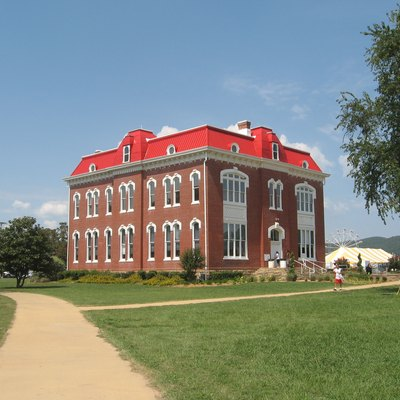 The Choctaw Capitol Museum and Judicial Department, Tuskahoma, Oklahoma.