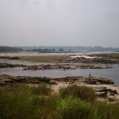 Upper Livingstone Falls rapids of the Congo River in Kinshasa — in the city's western Ngaliema municipality.