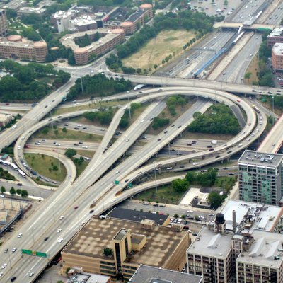 Overhead photo of the Circle Interchange in Chicago, IL