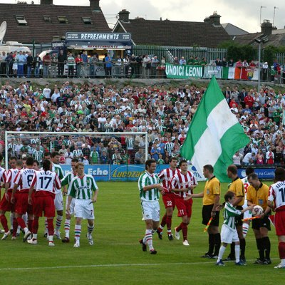 Qualifying champions league 2006-07 match. Cork City (Ireland) - Crvena Zvezda (Belgrade).