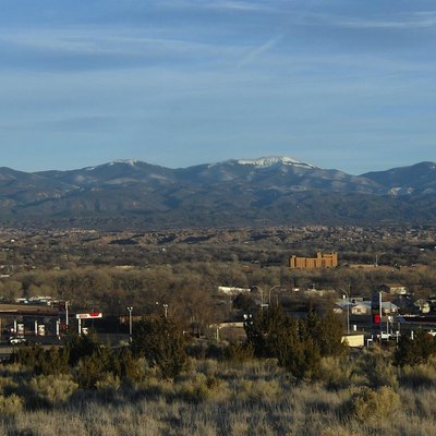 A view of the city of Espanola from the city's industrial park. Located on the west end of the city, taken in May 2012.