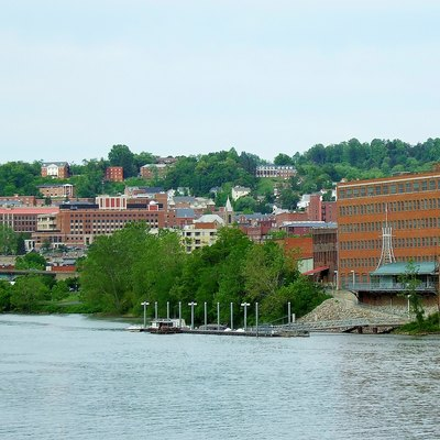 A view of Downtown Morgantown, WV as seen from the Western bank of the Monongahela River.