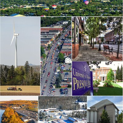 This is a montage of different iconic locations throughout the city of Presque Isle Maine.