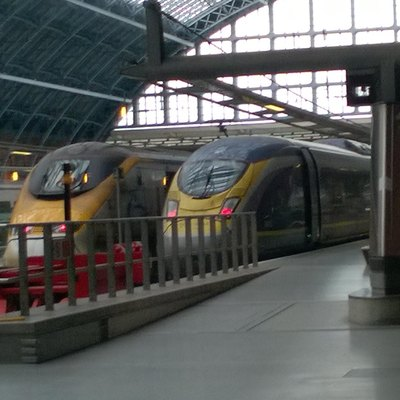 Eurostar Class 373 and Class 374 at London St Pancras