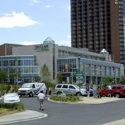 Cleary Centre along Riverside Drive now showing new ownership St. Clair College
