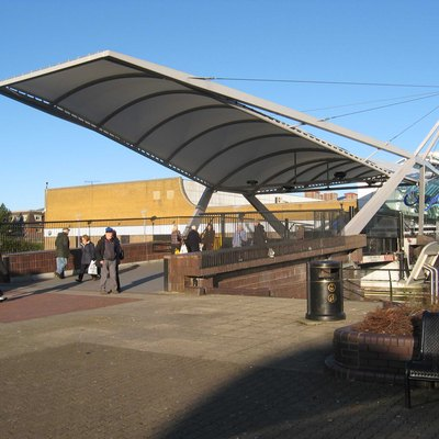 Bridge over the Forth and Clyde Canal at the Clyde Shopping Centre, Clydebank.
