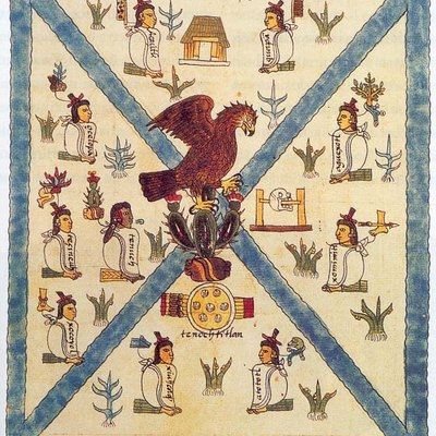 Mendoza Codex depicting the mexican coat of arms