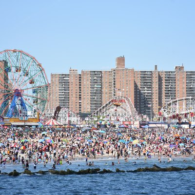 Coney Island As Seen From The Pier In June 2016.