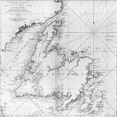 A general chart of the island of Newfoundland. Surveyed by James Cook and Michael Lane, and