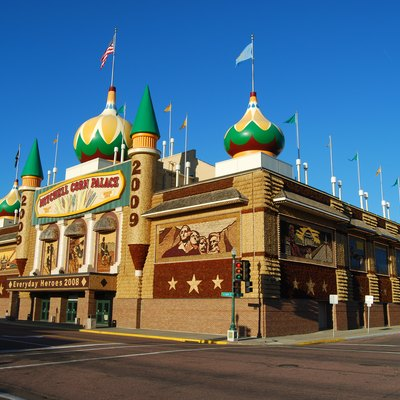 Mitchell Corn Palace, Mitchell, South Dakota. Shown in 2008 decorations.