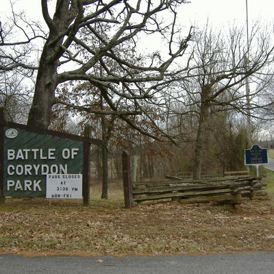 Entrance of the Corydon Battlefield, just south of Corydon, Indiana.