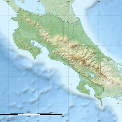 Map showing the location of Manuel Antonio National Park