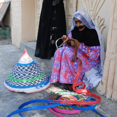 Craftswoman in northern Oman