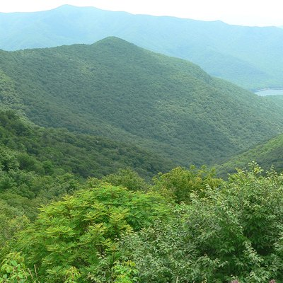 The view from Craggy Gardens on the Blue Ridge Parkway