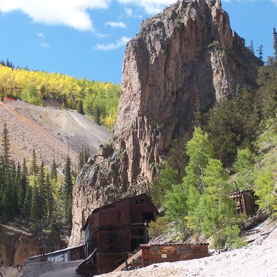 Creede, Old mine on Bachelor Loop tour