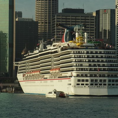 Cruise ship in Sydney Cove Australia in 2013