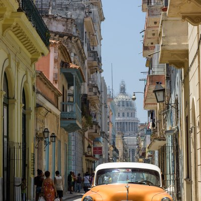 Typical street in old La Havana.