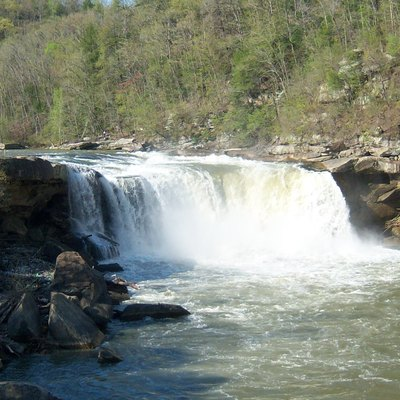 A view of Cumberland Falls in Whitley County, Kentucky.