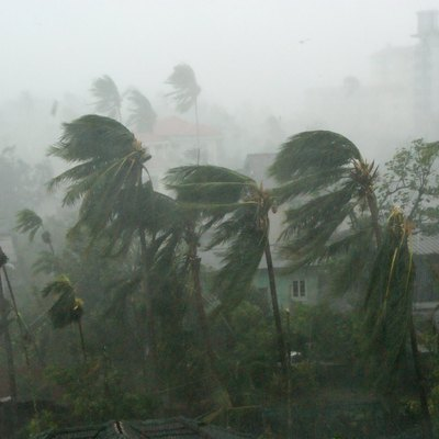 Cyclone Nargis in Myanmar. Views to show the effects of the wind and rain on 3 May 2008.
