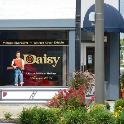 The Daisy Airgun museum in downtown Rogers, AR. Taken during the 2012 Frisco Festival.