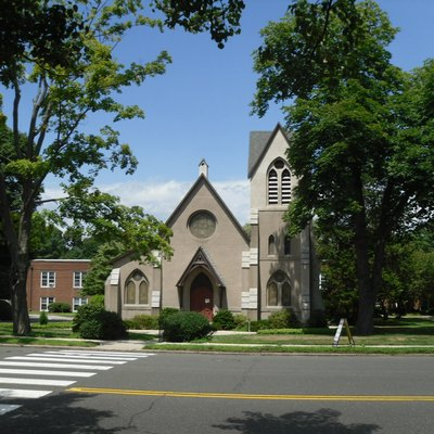 Built as the First Presbyterian Church of Darien, Connecticut, it now serves as chapel at Noroton Presbyterian Church.