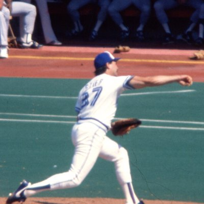 Dave Stieb pitching in Toronto, Canada in 1985. Note on Flickr: