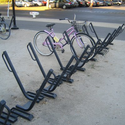 Typical bike rack of Davis, Ca