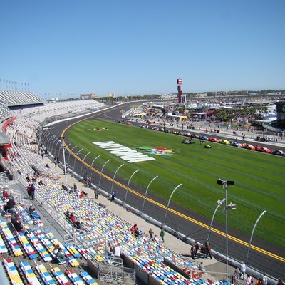 The Daytona International Speedway in 2011.