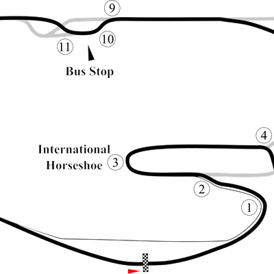 Map of the motorcycle course at the Daytona International Speedway.