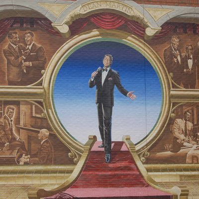 A mural of Dean Martin (1917-1995) in his birthplace, Steubenville, Ohio, United States