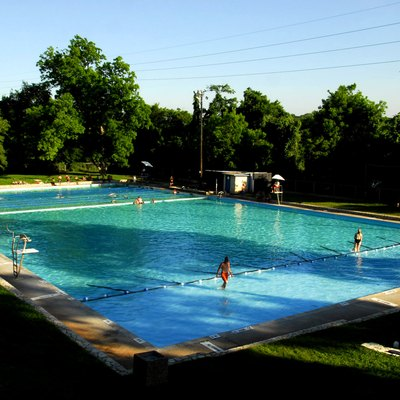 Deep Eddy Pool Located At 30.2765° -97.7732°,Austin, Texas, United States. The Structure Was Added To The National Register Of Historic Places In 2003.
