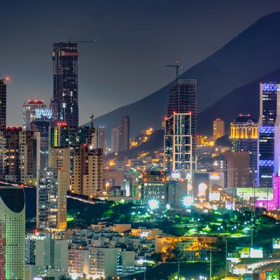Central business district of Monterrey.