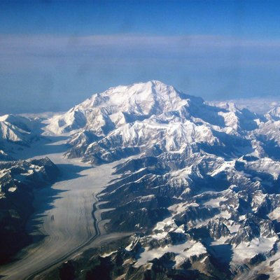 McKinley taken from the back of a Boeing 737 on September 10, 2003 on an Alaska Airlines flight from Red Dog Mine to Anchorage.
