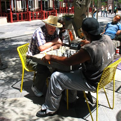 Chess players along the 16th Street Mall in Denver, Colorado, United States