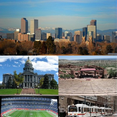 Montage of Denver images.