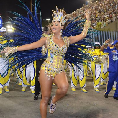 A typical performer of Samba dance, 2014