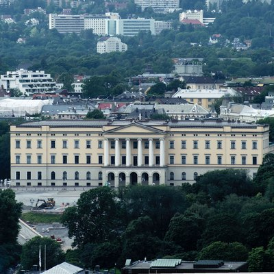 The Royal Palace In Oslo.