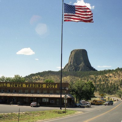 The trading post on Devils tower in 2003