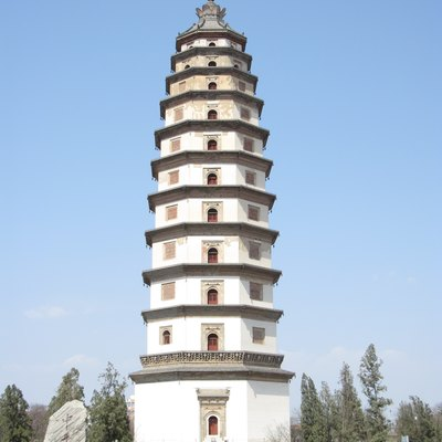 The Liaodi Pagoda of Kaiyuan Temple in Dingzhou, China